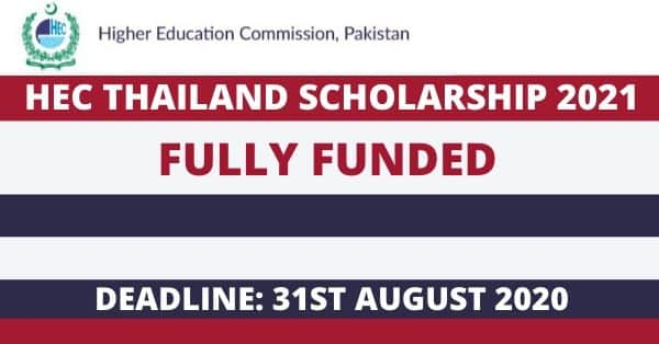 HEC Thailand Scholarship 2021