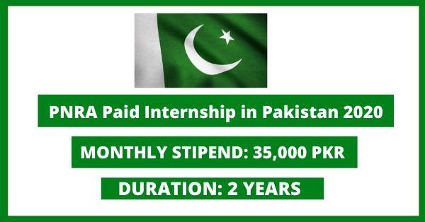 PNRA Paid Internship