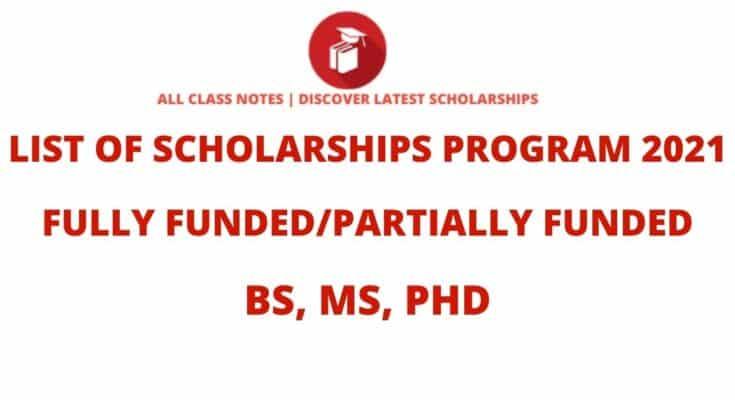 List of Scholarship Programs