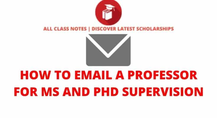 How to Email a Professor