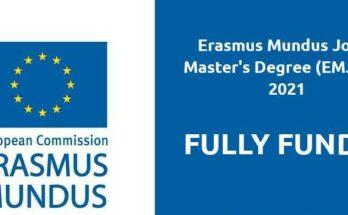 Erasmus Mundus Joint Master's Degree Scholarship
