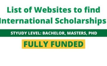 List of Websites to find International Scholarships
