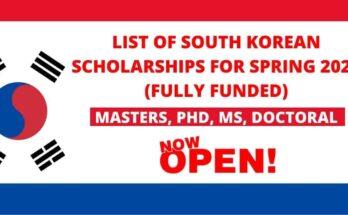 South Korean Scholarships