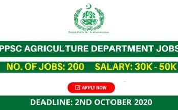 PPSC Agriculture Department Jobs