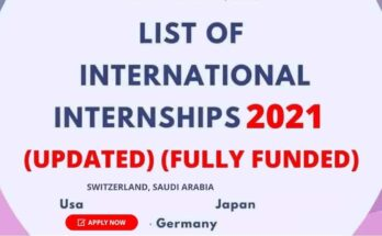 List of International Internships