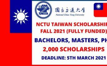 NCTU University Taiwan Scholarships