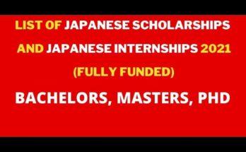 List of Japanese Scholarships and Japanese Internships