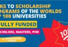 List of the Scholarship Programs of the World's Top 100 Universities