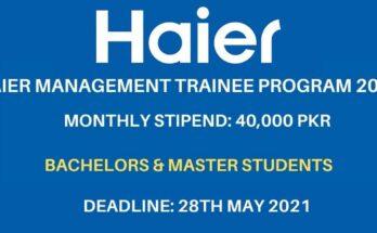 Haier Management Trainee Program