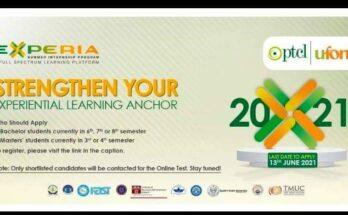 PTCL and Ufone Summer Internship Program