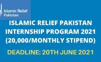 Islamic Relief Pakistan Internship 2021
