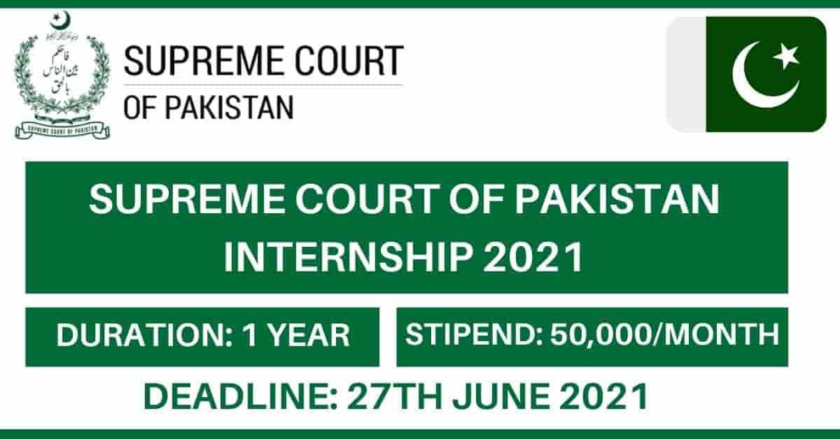 Supreme Court of Pakistan Internship