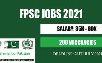 Latest FPSC Jobs