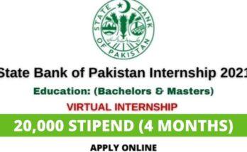 State Bank of Pakistan Internship