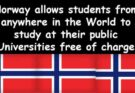 Study in Norway Free