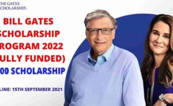 Bill Gates Scholarship Program 2022