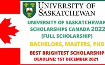 Saskatchewan University Scholarships in Canada 2022 | Full Funded